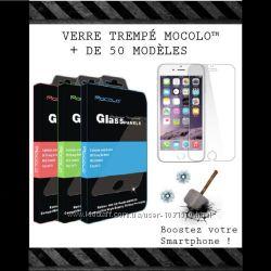 Samsung Galaxy Alpha G850 защитное стекло Mocolo противоударная пленка