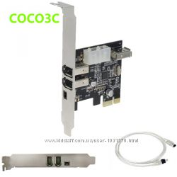 Контроллер PCIE - 1394 iLink FireWare 3 6pin 1 4pin порты