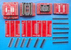 Полный комплект адаптеров для MiniPro TL866 TL866A TL866CS