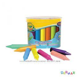 24 восковых мелка для самых маленьких в бочонке, Crayola