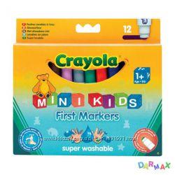 12 легко смываемых широких фломастеров, Crayola