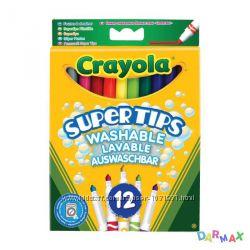 12 тонких фломастеров ярких цветов, Crayola