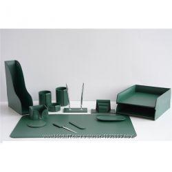 Набор для руководителя натур. кожа, зеленый цвет