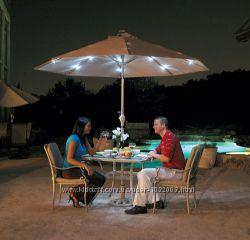 Зонт уличный, садовый, с подсветкой