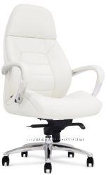 Кожаное кресло белого цвета F181 WL