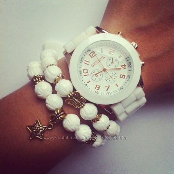 Часы с силиконовым ремешком Geneva