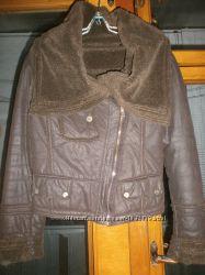 Короткая куртка дубленка