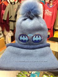 Зимовий комплект шапка та хомут для хлопчика.
