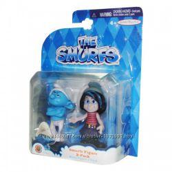 Распродажа - Смурфы набор фигурок Ворчун и Векси от The Smurfs