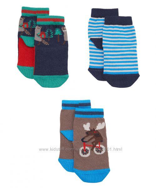 Распродажа - Носочки набор 3 шт. для мальчика на 6-12 месяцев и 1- 2 года о
