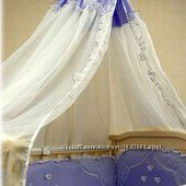 Распродажа - Полный Постельный комплект  Эксклюзив цвет голубой  от Ассоль