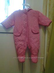 Розовый стеганный комбинезон George 3-6 мес. рост  68