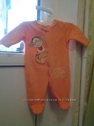 Комбенизон Disney флис  поддева ярко-оранжевый