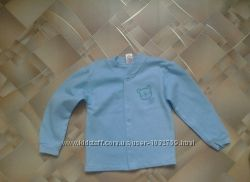 Кофточка рубашечка голубая на байке Бемби