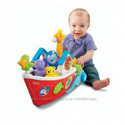 Развивающая игрушка большой ковчег-корабль каталка Fisher Price США