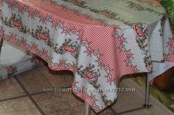 Скатерть клеенчатая силиконовая на стол в украинском стиле