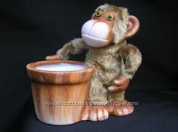керамический горшок обезьяна пр-во Польша. Лучший подарок на Новый год
