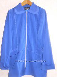 Курточка большего  размера  синняя