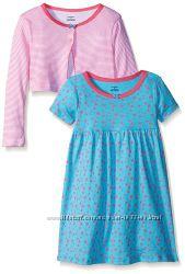 Трикотажные платья и сарафаны на 1-2-3-4-5-6 лет - 10 расцветок