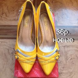 Продам новые женские лаковые туфли 36р кожзам