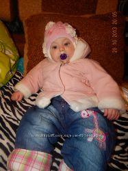 Куртка-дубленка осенне-весенняя и шапку в подарок