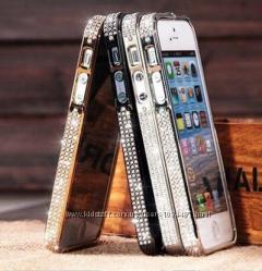 Бампер на айфон 4 4S и 5 5S 6 с камнями