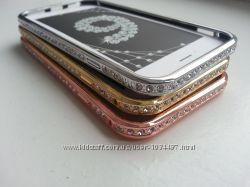 Металлический бампер для Iphone 6 6S Сваровски