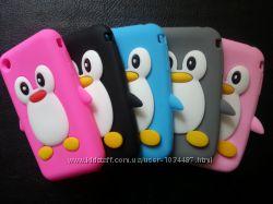 Силиконовый чехол пингвин на iphone 3 3S