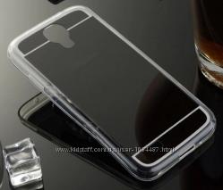 Зеркальный силиконовый чехол Samsung S4i-9500