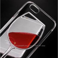 Бокал вина чехол для iPhone 5 5S 6 6S