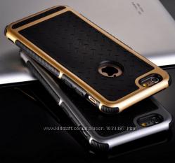 Противоударный чехол для iPhone 5 5S 6 6S серебряный серый золотой
