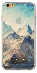 Премиум силиконовый чехол Горы для Iphone 6 6S