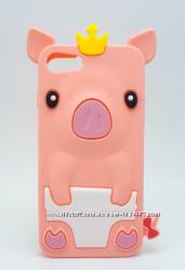 Детский розовый чехол в виде поросенка для iphone 5 5c 5S 6 6S
