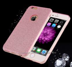 Силиконовый чехол для iPhone 6 6S золотой серебряный розовый фиолетовый