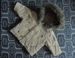 Тёплая вельветовая дэми-куртка
