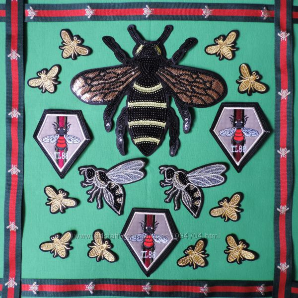 Аппликации пчёлы Гуччи
