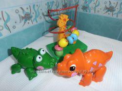 Развивающие игрушки Tolo, треск, Толо от 1 года, крокодил, динозавр