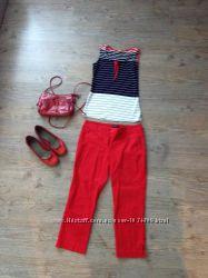 капри шорты красные фиолет белые джинс отличное состояние известные бренды