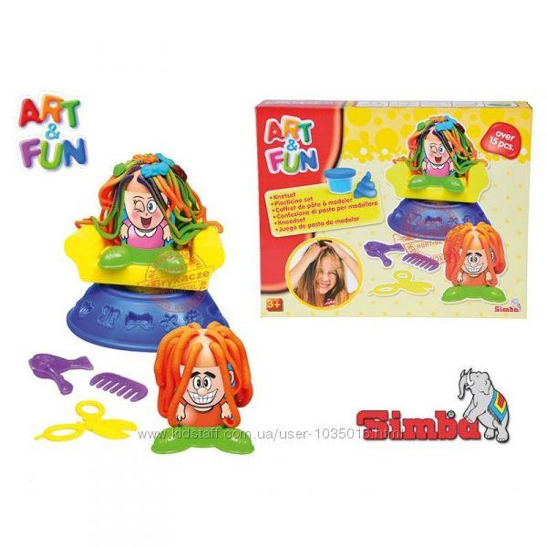 Пластилин Парикмахерская Сумасшедшие прически Simba 6329730 Акция