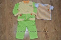 Спортивный костюм тройка кофта, штаны, футболка р. 92