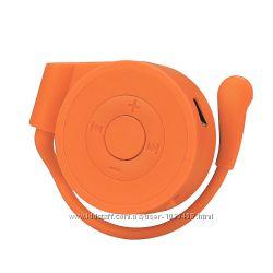 Mp3 player плеер на карту памяти Micro SD наушник оранжевый