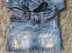 Очень классная, модная,  стильная джиновая юбочка в супер соостоянии