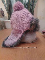 Теплая, зимняя ушаночка в отличном состоянии