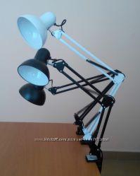 Настольная лампа трансформер на струбцине и основании