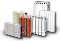 Радиаторы отопления алюминиевые, биметаллические, стальные, чугунные