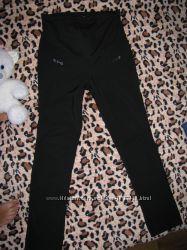 Чорні утеплені штани для вагітних