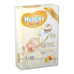 Подгузники Huggies 1 Elite Soft 2-5 кг 50шт
