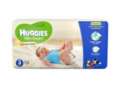 Подгузники Huggies 3 Ultra Comfort для мальчиков 5-9кг 56шт