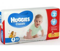 Подгузники Huggies 4 Classic 7-18кг 50шт