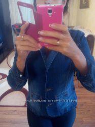 Синий джинс пиджак